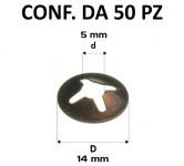 Piastrine tonde per perni da 5 mm
