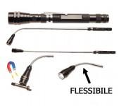 Pila a led telescopica con punta flessibile e magnete