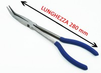 Pinza extra lunga a 45° lunghezza 280 mm