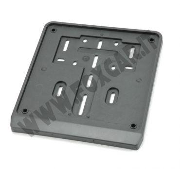 Porta targa moto in plastica con banda serigrafabile neutra da 15 mm