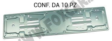 Porta targa POST. dopo 1999, in alluminio