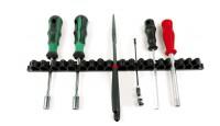 Porta utensili con 18 molle di tenuta in resina sintetica