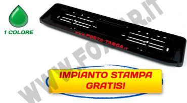Porta targa POST. dopo 1999 in plastica PPL con banda serigrafabile e serigrafia   ad 1 colore