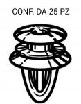 Bottone fissaggi vari per Alfa Lancia Fiat