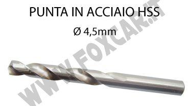 Punta trapano per ferro da 4,5 mm