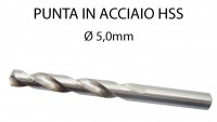 Punta trapano per ferro da 5 mm