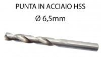 Punta trapano per ferro da 6,5 mm