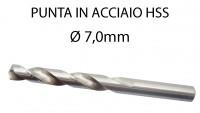 Punta trapano per ferro da 7 mm