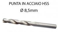 Punta trapano per ferro da 8,5 mm