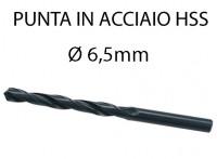 Punta elicoidale in acciaio da 6,5 mm
