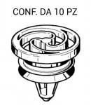 Rivetto in plastica per passaruota Fiat Grande Punto Alfa Romeo Mito per foro da   14 mm