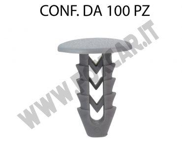 Bottone plastica per Fiat, Lancia, Iveco testa Ø 15 mm lunghezza 17 mm per foro   da 6,5 mm