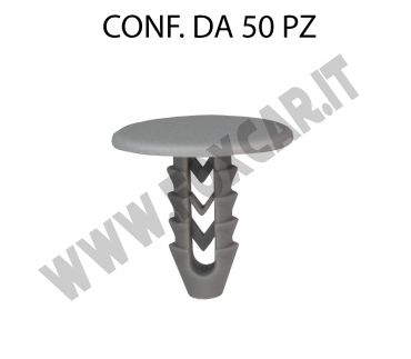 Bottone per Alfa Fiat Iveco, testa Ø 20 mm, lung. tot. 19 mm gambo 8 mm per foro   da 6,5 mm