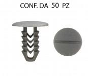 Bottone fissaggi vari testa Ø 22 mm lunghezza 25 mm per foro da 9 mm ...