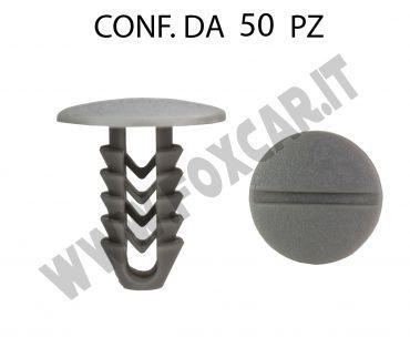 Bottone fissaggi vari testa Ø 22 mm lunghezza 25 mm per foro da 9 mm di colore grigio