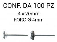 Rivetti tipo graf, in alluminio 4x20 mm e foro di Ø 4 mm