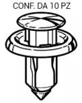 Rivetto in plastica con perno per passaruota Mazda lunghezza 18 mm, Ø...