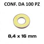 Rondella con diametro interno di 8,4 mm, Ø esterno 16 mm, spessore 1,...