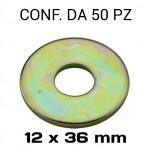 Rondelle a fascia larga con Ø foro 12 mm, Ø esterno 36 mm, spessore ...