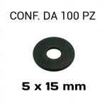 Rondelle a fascia larga con diametro foro 5 mm, Ø esterno 15 mm, spes...