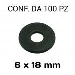 Rondelle a fascia larga con diametro foro 6 mm, Ø esterno 18 mm, spes...