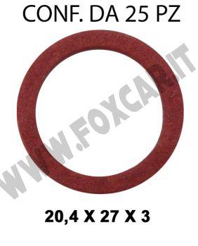 Rondella guarnizione diametro interno di 20,4 mm, Ø 27 mm, spessore 3 mm