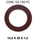 Rondella guarnizione in rame con Ø interno di 14,5 mm, Ø esterno 20 ...
