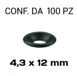 Rondelle sottoviti per viti a testa svasata in acciaio nero con Ø for...