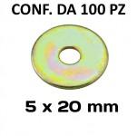 Rondelle a fascia extra larga con Ø foro di 5 mm, Ø esterno 20 mm, s...