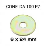 Rondelle a fascia extra larga con Ø foro di 6 mm, Ø esterno 24 mm, s...