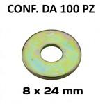 Rondelle a fascia larga con Ø foro 8 mm, Ø esterno 24 mm, spessore 2...