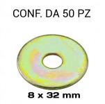 Rondelle a fascia extra larga con Ø foro di 8 mm, Ø esterno 32 mm, s...