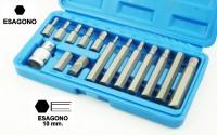 Set di 15 pezzi chiavi a inserto per esagono incassato, brugola