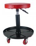 Sgabello girevole con rotelle e regolabile in altezza
