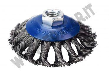 Spazzola in acciaio da 100 mm per smerigliatrici