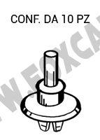 Aggancio bottone tirante cappelliera Fiat, Alfa, Lancia