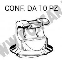 Rondelle in plastica PA Nylon misure 82 x 15 x 15 mm per fissaggi carene e cupolini - Foxcar
