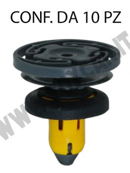 Bottone fissaggio batticalcagno in plastica per Jeep Renegade e Fiat 500X