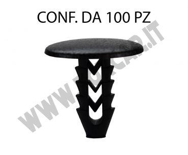 Bottone in plastica per interni su Fiat Lancia e Alfa Romeo per foro da 6,5 mm
