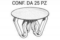 Bottone copriforo di colore BIANCO per fori da Ø 14 mm a 21 mm, testa...