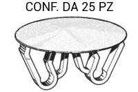 Tappo bottone copriforo universale di colore BIANCO per fori da Ø 22 ...