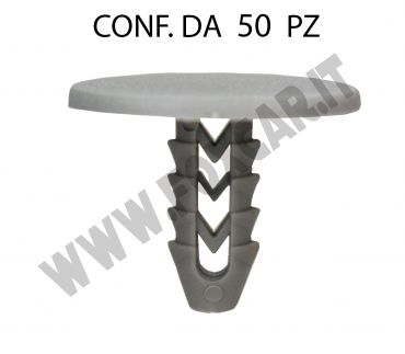 Bottone in plastica Fiat Iveco testa Ø 25 mm lunghezza 17 mm per foro da 6,5 mm