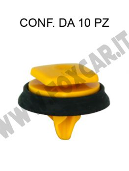 Bottone fissaggio modanatura esterna Jeep Renegade dal 2014 giallo
