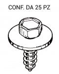 Vite autofilettante Ø 5,3 X 16 mm testa esagonale da 8 mm e rondella ...