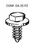 Viti autofilettanti Ø 6,3 x 19 mm testa esagonale per chiave da 10 mm...