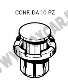 Bottone ad espansione per parasassi su Fiat Sedici e Suzuki SX Crossover per foro   da 15 mm