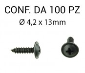 Vite autofilettante testa larga Ø 4,2 x 13 mm