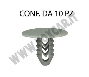 Bottone in plastica per Fiat testa Ø 24 mm lunghezza 16 mm per foro da 8,5 mm