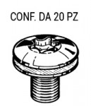 Vite fissaggio serratura porta per Fiat, Lancia e Alfa Romeo