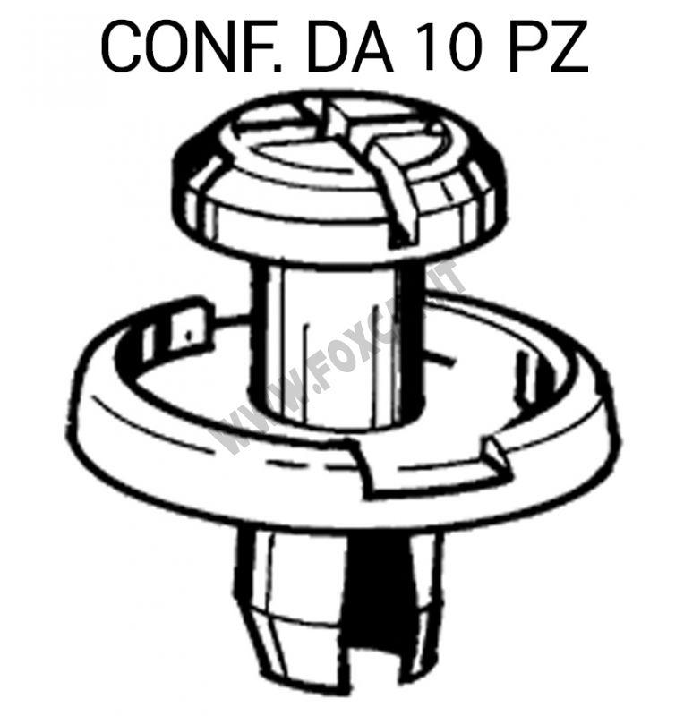 10 HONDA ANTERIORE PARAURTI PLASTICA VITE FISSAGGIO CLIP